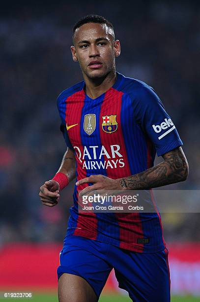 Neymar Jr of FC Barcelona walking during the Spanish League match between FC Barcelona vs Granada CF at Camp Nou Stadium on October 29 2016 in...
