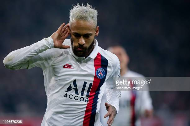 Neymar Jr of Paris Saint Germain during the French League 1 match between Lille v Paris Saint Germain at the Stade Pierre Mauroy on January 26 2020...