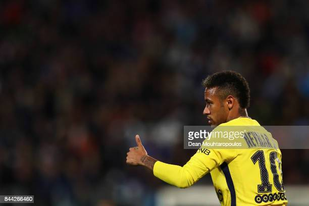 Neymar Jr of Paris SaintGermain Football Club or PSG in action during the Ligue 1 match between Metz and Paris Saint Germain or PSG held at Stade...