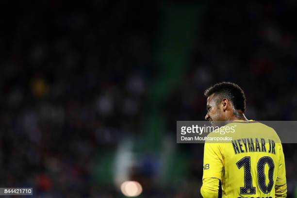 Neymar Jr of Paris SaintGermain Football Club or PSG in action during the Ligue 1 match between Metz and Paris Saint Germain or PSG held at Stade...