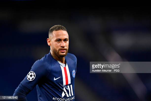 Neymar Jr of Paris SaintGermain looks on during the UEFA Champions League round of 16 second leg match between Paris SaintGermain and Borussia...