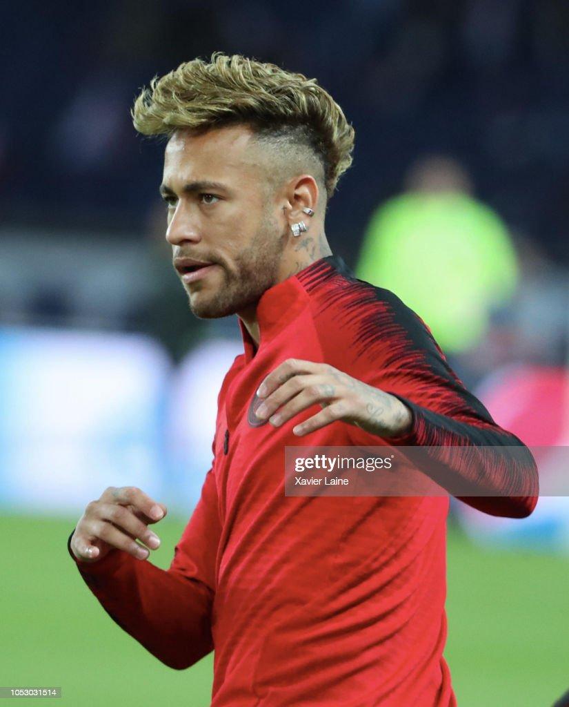 Neymar Jr of Paris Saint-Germain reacts before the Group C ...