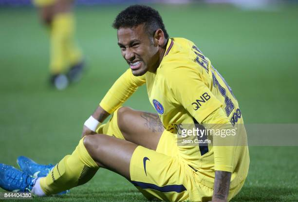 Neymar Jr of PSG during the French Ligue 1 match between FC Metz and Paris Saint Germain at Stade SaintSymphorien on September 9 2017 in Metz France