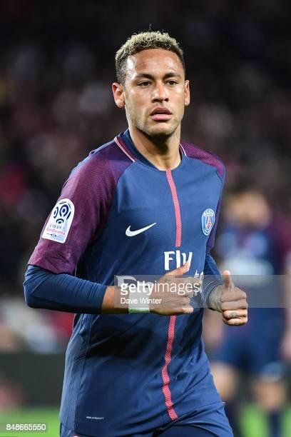 Neymar JR of PSG during the Ligue 1 match between Paris Saint Germain and Olympique Lyonnais at Parc des Princes on September 17 2017 in Paris France