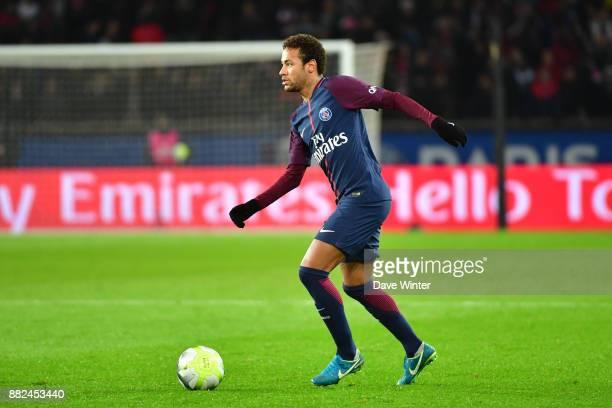 Neymar JR of PSG during the Ligue 1 match between Paris Saint Germain and Troyes Estac at Parc des Princes on November 29 2017 in Paris