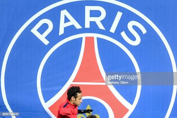 Neymar Jr of PSG during the Ligue 1 match between Paris Saint Germain and Dijon FCO at Parc des Princes on January 17 2018 in Paris