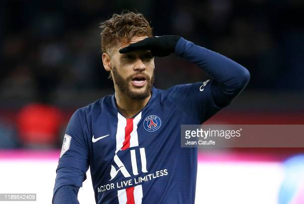 Neymar Jr of PSG during the Ligue 1 match between Paris SaintGermain and Lille OSC at Parc des Princes stadium on November 22 2019 in Paris France