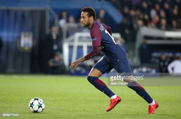 Neymar Jr of PSG during the UEFA Champions League group B match between Paris SaintGermain and RSC Anderlecht at Parc des Princes on October 31 2017...