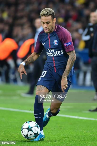 Neymar JR of PSG during the Uefa Champions League match between Paris Saint Germain and FC Bayern Munich on September 27 2017 in Paris France