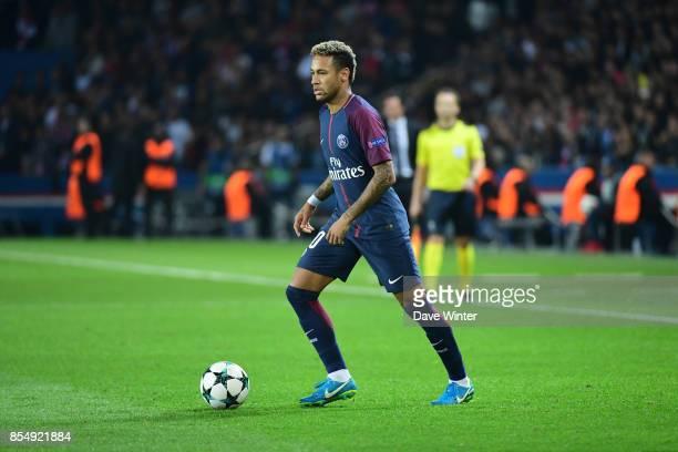Neymar JR of PSG during the Uefa Champions League match between Paris Saint Germain and FC Bayern Munich on September 27 2017 in Paris France