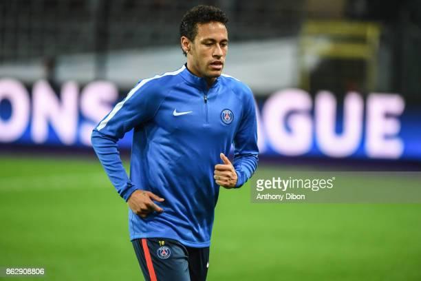 Neymar Jr of PSG during the UEFA Champions League match between RSC Anderlecht and Paris SaintGermain at Constant Vanden Stock Stadium on October 18...