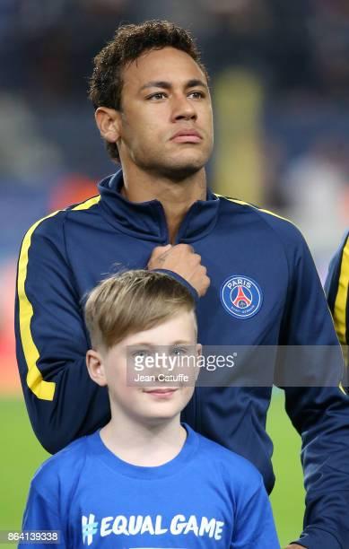 Neymar Jr of PSG during the UEFA Champions League match between RSC Anderlecht and Paris Saint Germain at Constant Vanden Stock Stadium on October 18...