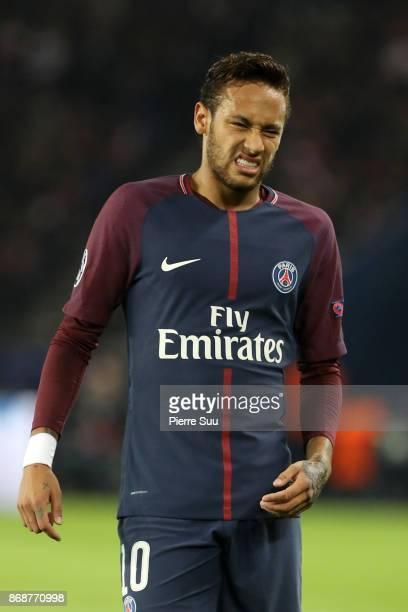 Neymar Jr of PSG in action during the UEFA Champions League group B match between Paris SaintGermain and RSC Anderlecht at Parc des Princes on...