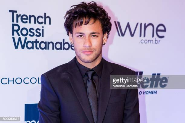 Neymar Jr poses before a benefit auction at Hotel Unique on June 22 2017 in Sao Paulo Brazil
