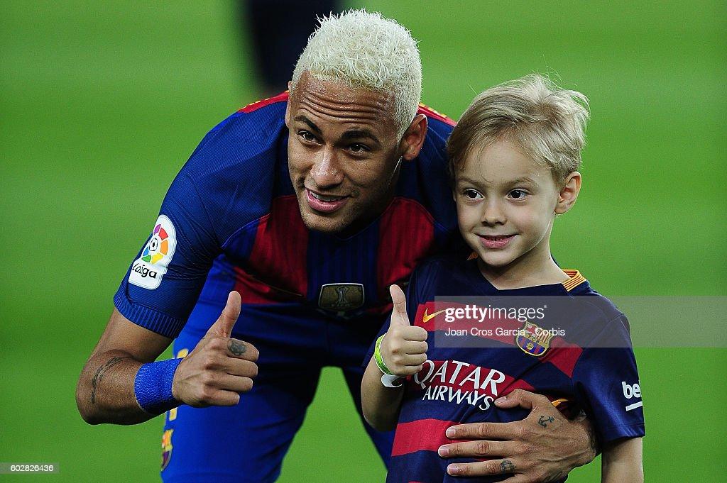 Neymar's son joins Barcelona football school FCB Escola