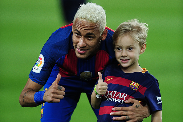 Neymar s son joins Barcelona football school FCB Escola