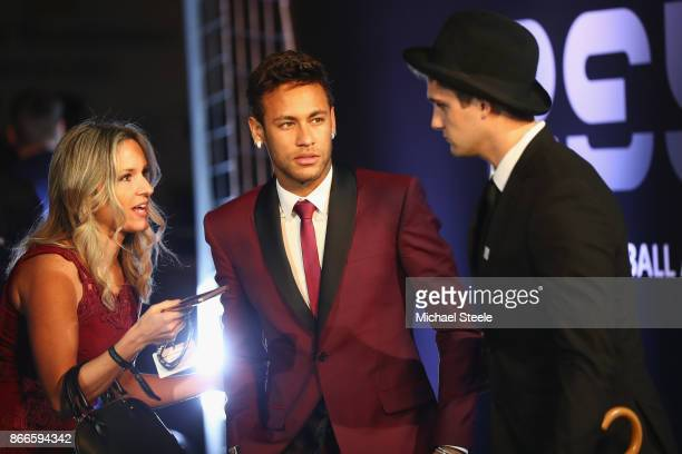 Neymar of Brazil and Paris SaintGermain arrives for The Best FIFA Football Awards Green Carpet Arrivals on October 23 2017 in London England