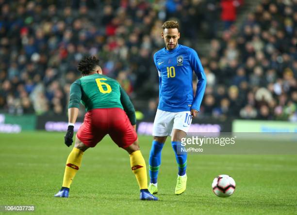 Neymar of Brazil during Chevrolet Brazil Global Tour International Friendly between Brazil and Cameroon at Stadiummk stadium MK Dons Football Club...