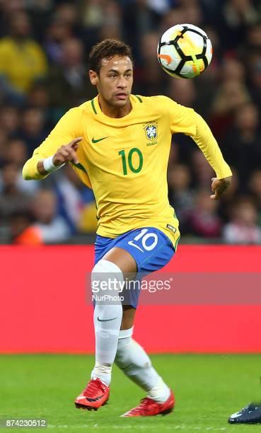 Neymar of Brazil during International Friendly match between England and Brazil at Wembley stadium London on 14 Nov 2017