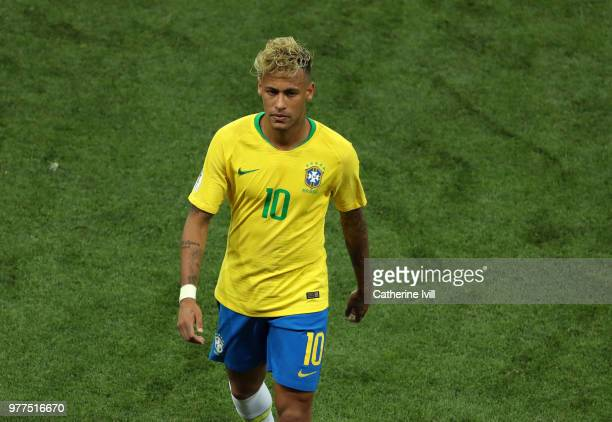 Neymar of Brazil during the 2018 FIFA World Cup Russia group E match between Brazil and Switzerland at Rostov Arena on June 17 2018 in RostovonDon...