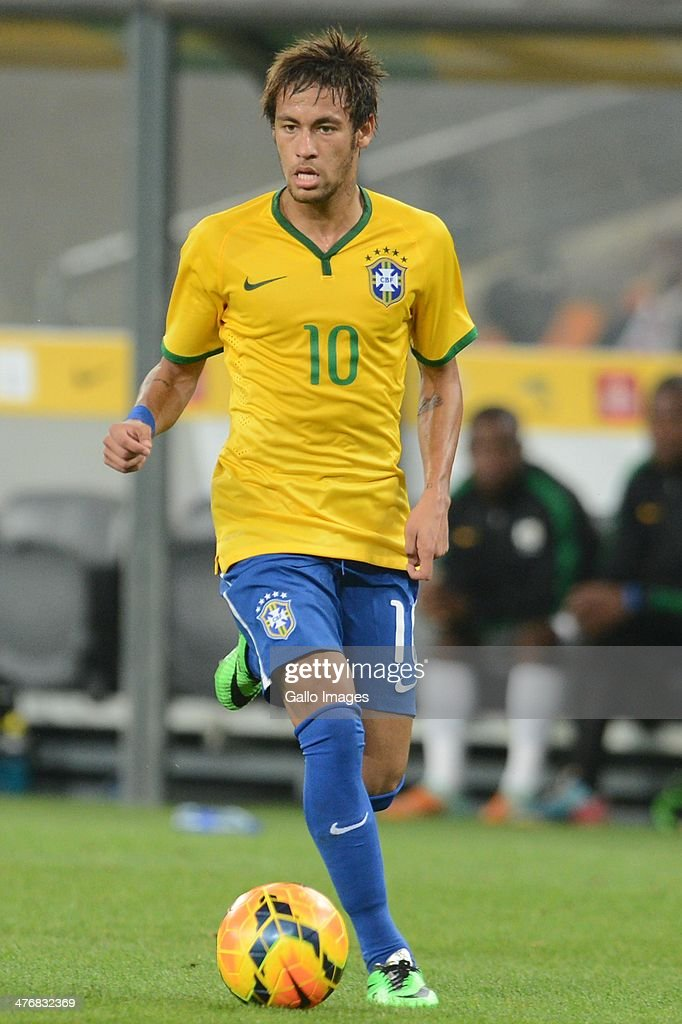 Neymar of Brazil during the International Friendly match between South Africa and Brazil at FNB Stadium on March 05, 2014 in Johannesburg, South Africa.