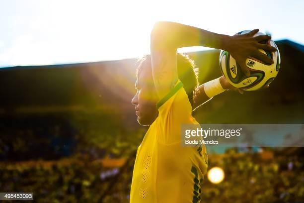 Neymar of Brazil in action during the International Friendly Match between Brazil and Panama at Serra Dourada Stadium on June 03 2014 in Goiania...