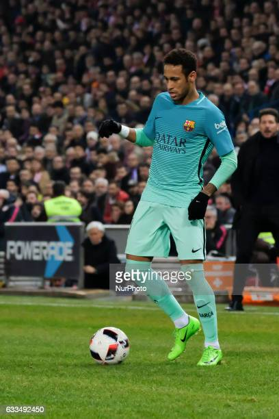 Neymar of FC Barcelona during Copa Del Rey Semifinal first Leg match between Atletico Madrid v FC Barcelona at Vicente Calderon on February 01 2017...