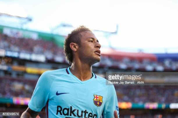 Neymar of FC Barcelona during the International Champions Cup 2017 match between FC Barcelona and Manchester United at FedExField on July 26 2017 in...