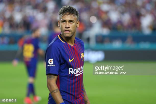Neymar of FC Barcelona during the International Champions Cup 2017 match between Real Madrid and FC Barcelona at Hard Rock Stadium on July 29 2017 in...