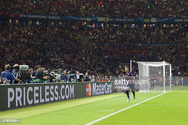 Neymar of FC Barcelona during the UEFA Champions League final match between Barcelona and Juventus on June 6 2015 at the Olympic stadium in Berlin...