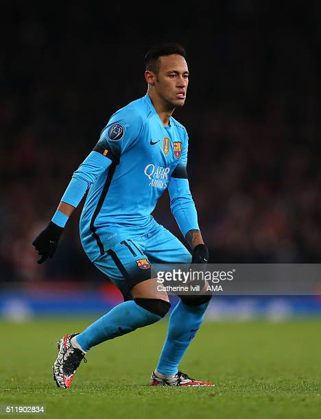 a56a1550e89 Neymar of FC Barcelona during the UEFA Champions League match between Arsenal  and Barcelona at the