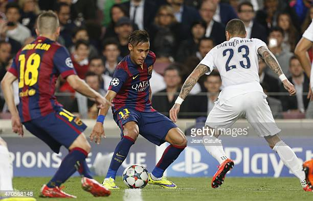 Neymar of FC Barcelona in action during the UEFA Champions League Quarter Final second leg match between FC Barcelona and Paris SaintGermain at Camp...