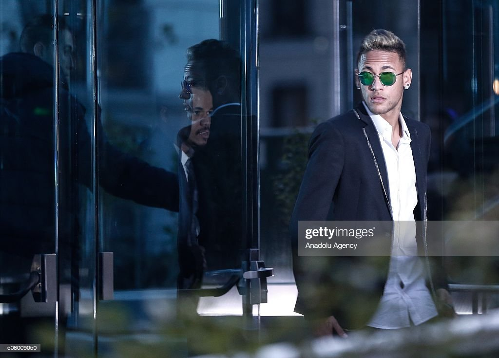 Neymar at National Court on FC Barcelona Fraud Investigation : News Photo