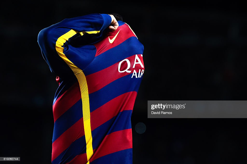 Neymar of FC Barcelona reacts during the La Liga match between FC Barcelona and Celta Vigo at Camp Nou on February 14, 2016 in Barcelona, Spain.