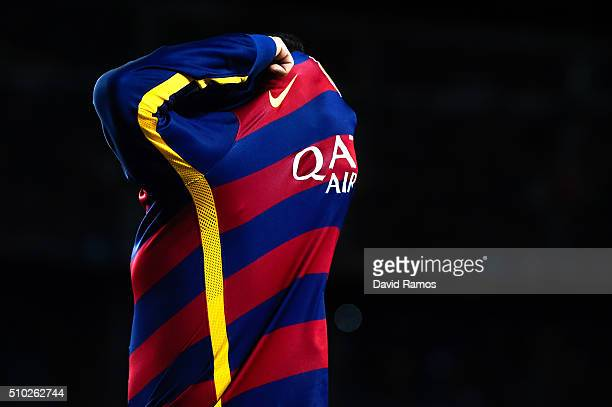 Neymar of FC Barcelona reacts during the La Liga match between FC Barcelona and Celta Vigo at Camp Nou on February 14 2016 in Barcelona Spain