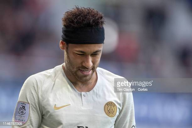 Neymar of Paris SaintGermain during the Montpellier Vs Paris SaintGermain French Ligue 1 regular season match at Stade de la Mosson on April 30th...