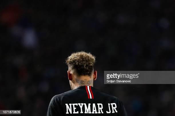 Neymar of Paris SaintGermain during the UEFA Champions League Group C match between Red Star Belgrade and Paris SaintGermain at Rajko Mitic Stadium...