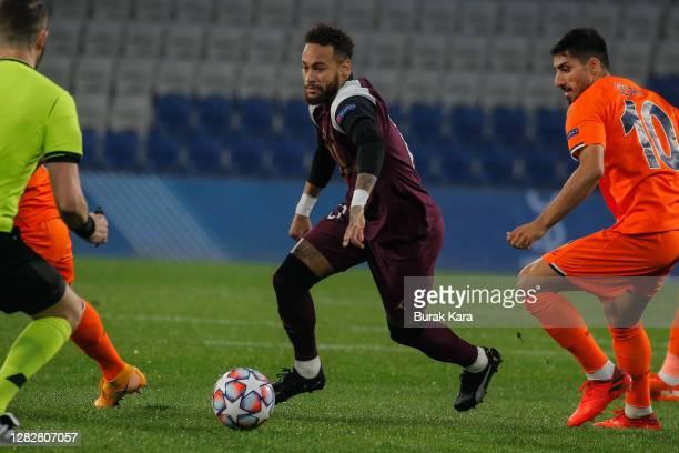 Neymar of Paris SaintGermain is in action during the UEFA Champions League Group H stage match between Istanbul Basaksehir and Paris SaintGermain at...