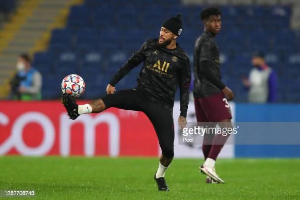 Neymar of Paris SaintGermain warms up ahead of the UEFA Champions League Group H stage match between Istanbul Basaksehir and Paris SaintGermain at...