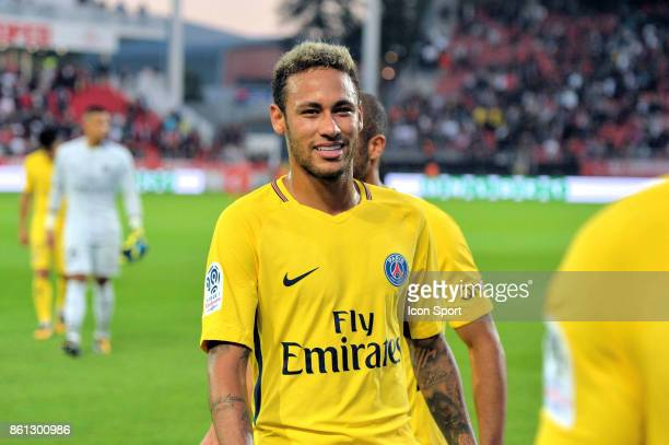 Neymar of PSG at the end during the Ligue 1 match between Dijon FCO and Paris Saint Germain at Stade Gaston Gerard on October 14 2017 in Dijon