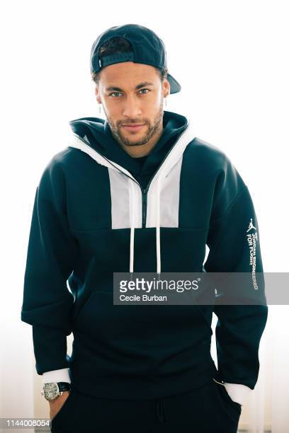 Neymar of PSG poses for a portrait on May 2019 in Paris France