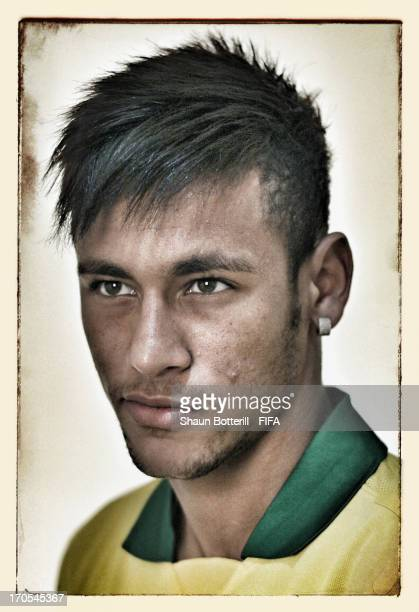 Neymar poses for a portrait at the Palace Hotel on June 12 2013 in Brasilia Brazil