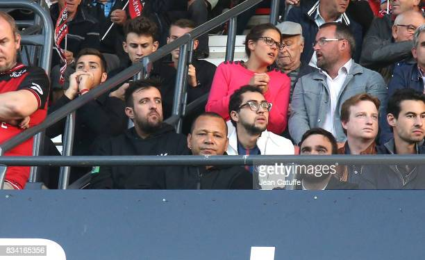 Neymar Senior aka Neymar da Silva Santos Sr attends the French Ligue 1 match between En Avant Guingamp and Paris Saint Germain at Stade de Roudourou...