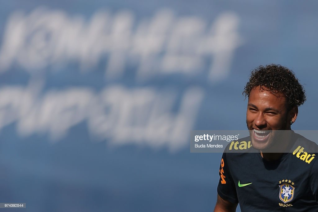 Brazil Training and Press Conference : News Photo