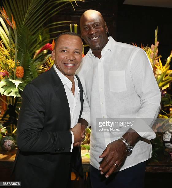 Neymar Sr and Michael Jordan attend An Intimate Evening With Michael Jordan And Neymar Jr on June 1 2016 in New York City