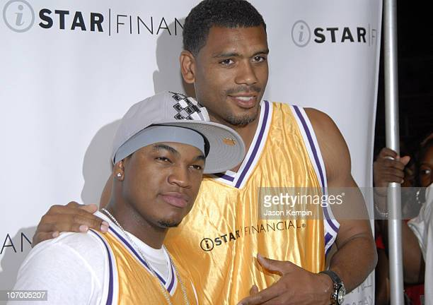 NeYo and Allan Houston during iStar Financial Hosts Fourth Annual Charity Shootout Benefiting The Robin Hood and Humans Rights First Foundations July...