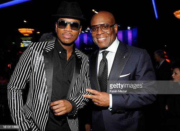 "Ne-Yo and Antonio ""L.A"" Reid attends the 55th Annual GRAMMY Awards Pre-GRAMMY Gala and Salute to Industry Icons honoring L.A. Reid held at The..."