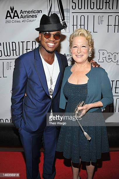 Ne-Yo and Bette Midler attend the Songwriters Hall of Fame 43rd Annual induction and awards at The New York Marriott Marquis on June 14, 2012 in New...