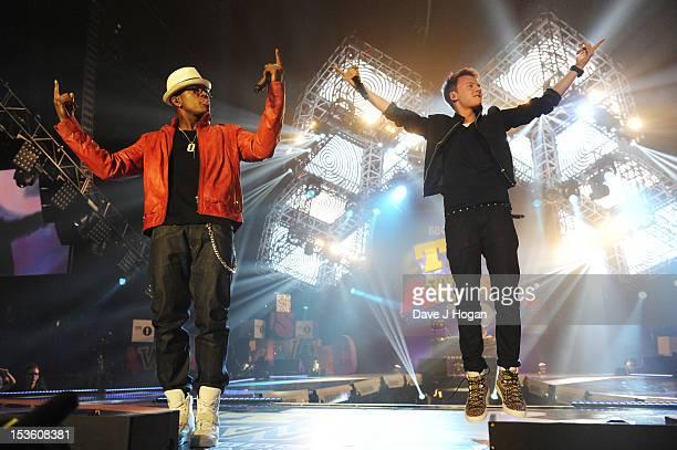 NeYo and Connor Maynard perform at the BBC Radio 1 Teen Awards 2012 at Wembley Arena on October 7 2012 in London England