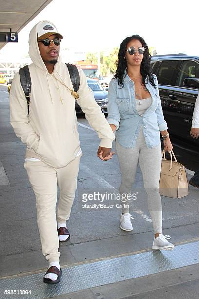 NeYo and Crystal Renay are seen at LAX on September 01 2016 in Los Angeles California